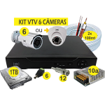 Kit DVR AHD VTV 6 cameras+HD1TB