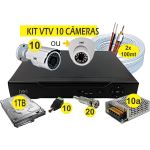 Kit DVR AHD VTV 10 cameras+HD1TB