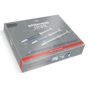 Kit Clareador Dental Whiteness Simple 22% c/ 5 Seringas - FGM