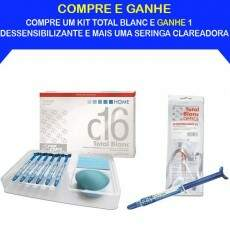 Kit Promocional Clareador Dental Total Blanc Home 16%