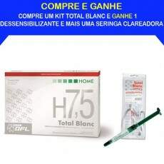 Kit Promocional Clareador Dental Total Blanc Home 7,5%