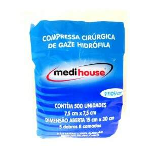 Compressa de Gaze Medi House 9 fios - Medi House