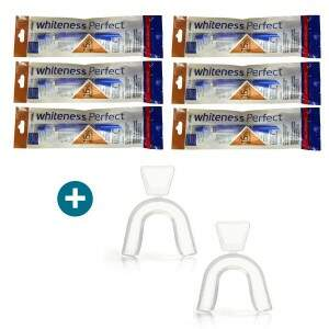 6 Seringas de Clareador Dental Whiteness Perfect 16% + Moldeira