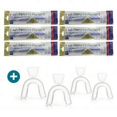 6 Seringas Clareador Dental Whiteness Perfect 22% + 2 moldeiras - FGM