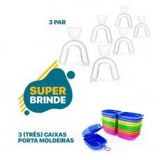 3 Kit Whiteness Perfect 16% + 3 Moldeiras - FGM