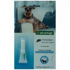 ADVANTAGE ANTIPULGAS P/ CÃES E GATOS - (de 4kg a 10kg) - 1,0ml