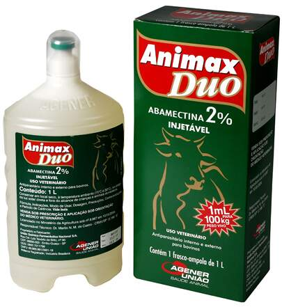 ANIMAX DUO 2% (ABAMECTINA) INJETÁVEL - 500ml