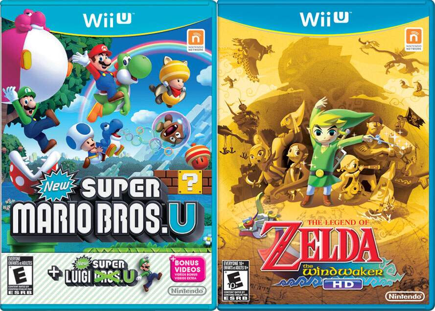 Nintendo Wii U Basic 8Gb + New Super Mario Bros + New Super Luigi Bros + Zelda: The Windwaker HD
