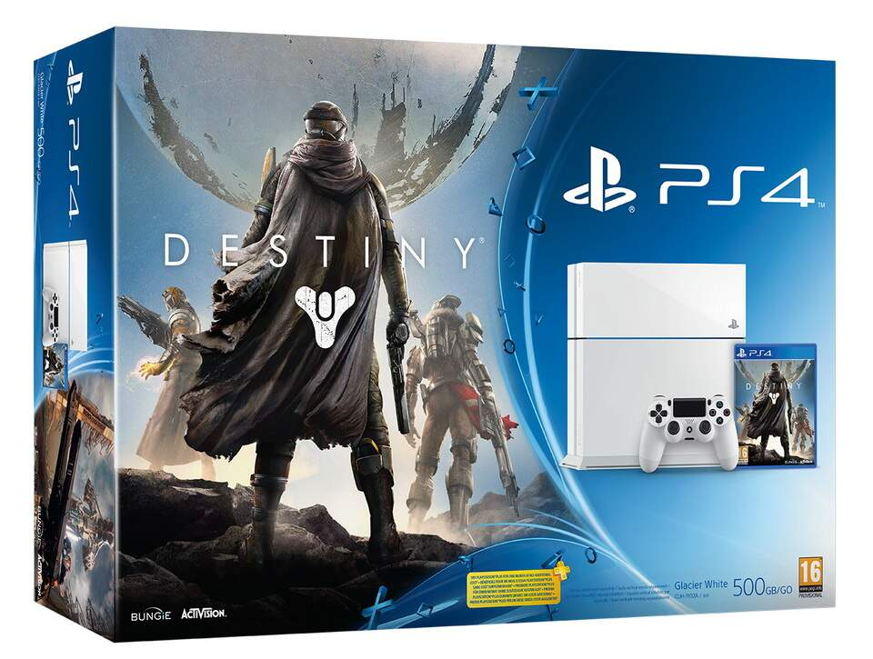 Console Playstation 4 500GB Americano Bivolt - Bundle Destiny (Glacier White)