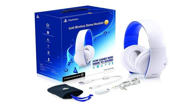 Gold Wireless Stereo Headset Branco - PC / PS4 / PS3