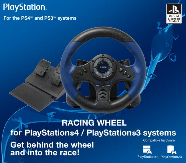 Volante Hori Racing Wheel para Ps4 Ps3