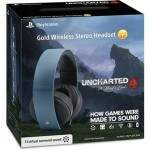 Headset Gold Wireless Stereo Edição Limitada Uncharted 4 - Ps4