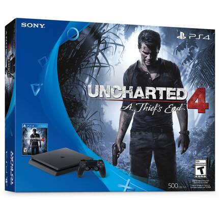 Console Playstation 4 Slim 500GB com Uncharted 4
