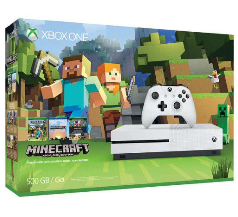 Xbox One S - 500GB Minecraft