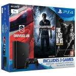 Console Playstation 4 Slim 1TB com Drive Club Uncharted 4 The Last of Us