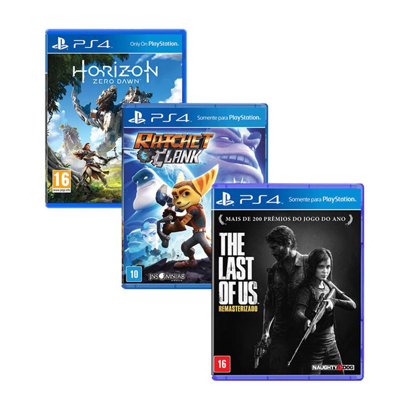 Console Playstation 4 Slim 500GB Horizon Zero Dawn Ratchet Clank The Last of Us