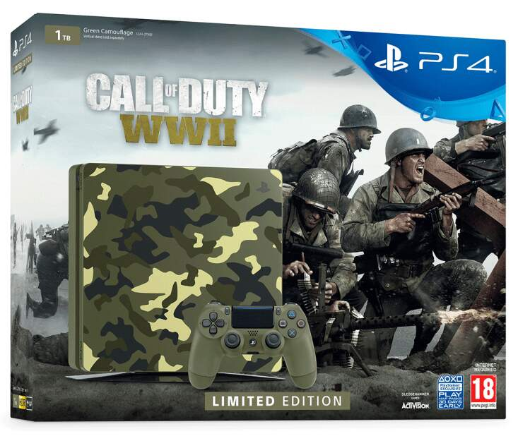 Console Playstation 4 Slim 1TB Call of Duty WWII