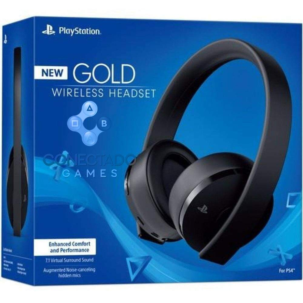New Headset Gold Wireless - Ps4