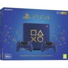 Console Playstation 4 Slim 500GB Azul Days of Play Edition 2 Controles