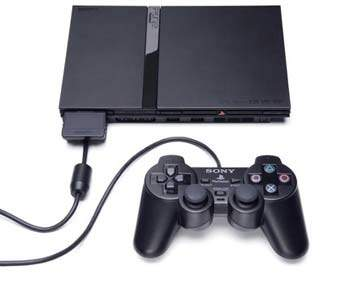 Playstation 2 Slim + Memory card 8Mb + 10 Jogos (Matrix)