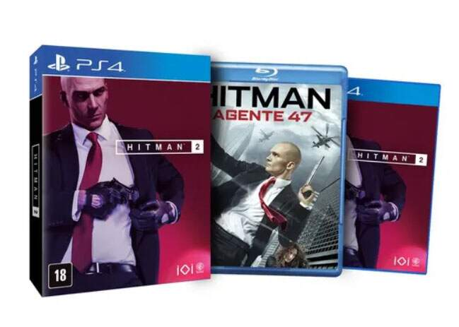 Hitman 2 + Blu-ray Hitman: Agente 47 - Ps4