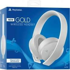 New Headset Gold Wireless Branco - Ps4