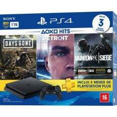 Playstation 4 Slim 1TB Hits Bundle 5 Days Gone Detroid Become Human Rainbow Six