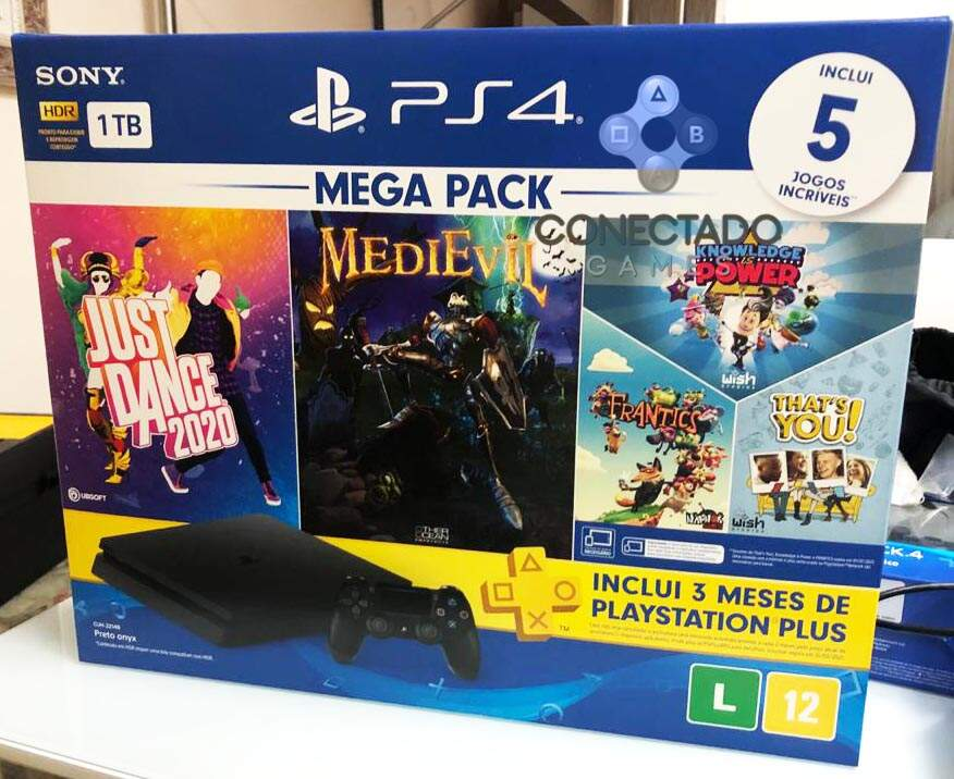 Playstation 4 Slim 1TB Mega Pack Just Dance 2020 Medievil Knowledge Frantics Thats You