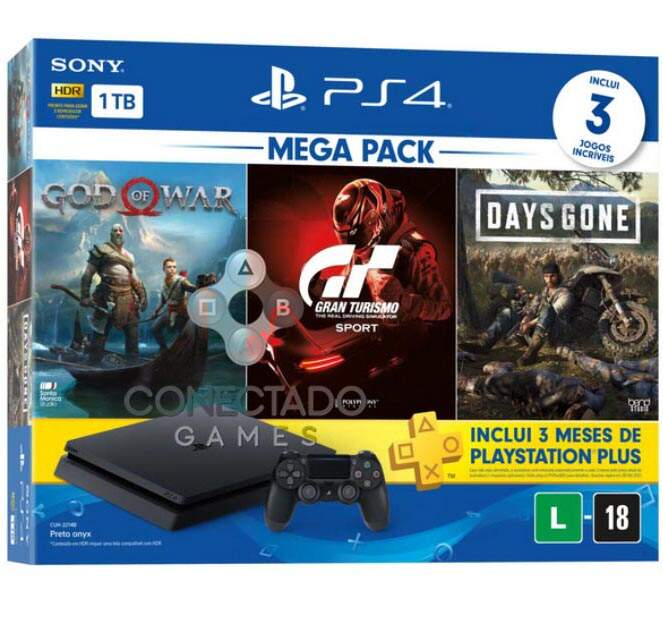 Playstation 4 Slim 1TB God of War Gran Turismo Days Gone