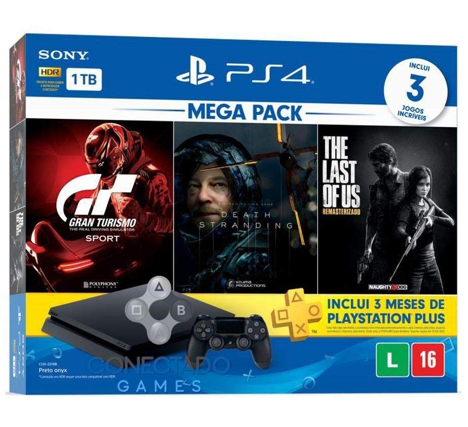 Playstation 4 Slim 1TB Gran Turismo Sport Death Stranding The Last of Us