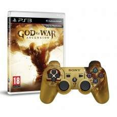 Kit God Of War Ascension + Controle + Jogo + Case Personalisado