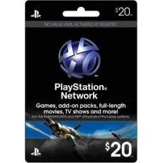 Playstation Network Card $20 Cartão Psn