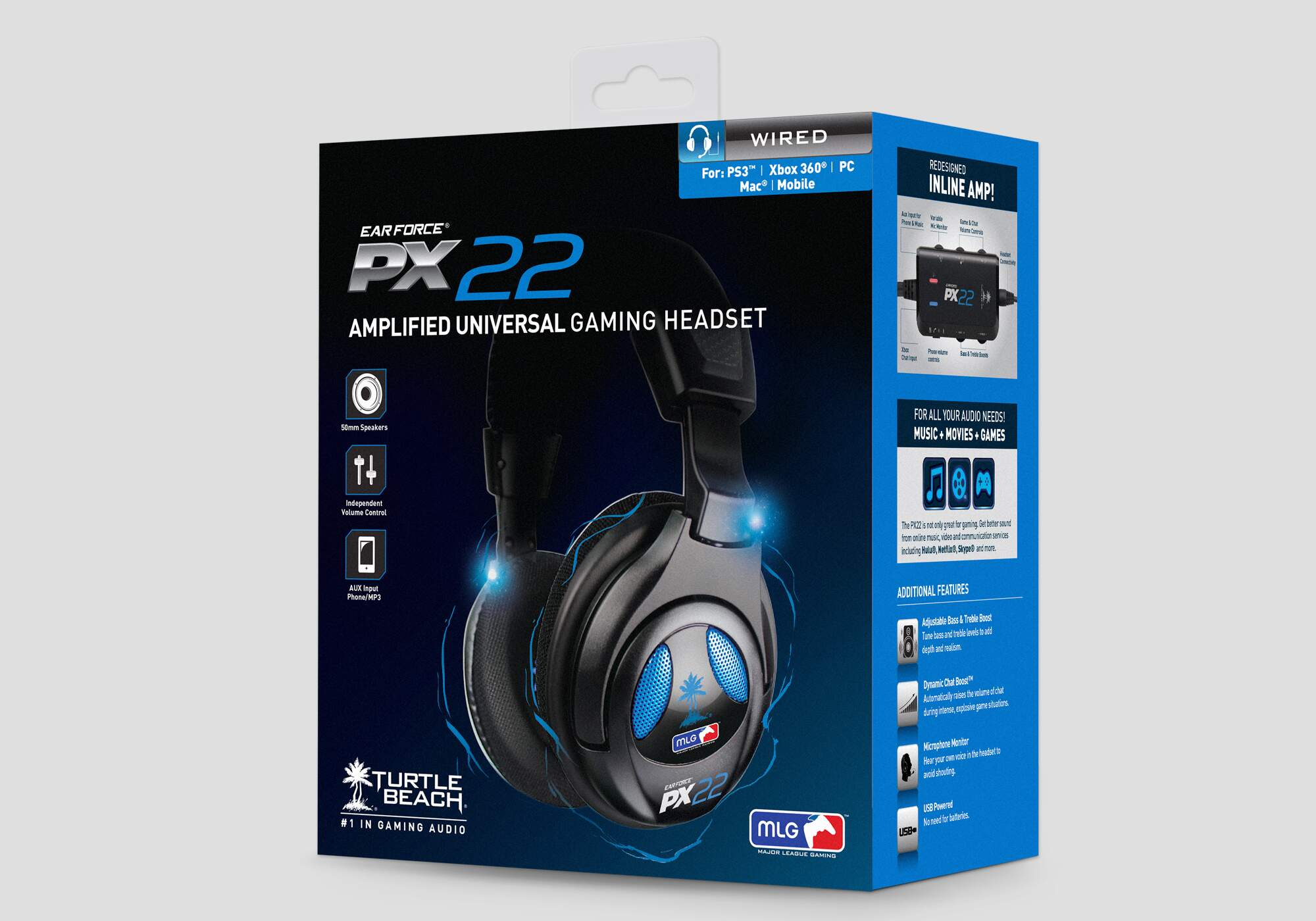 Headset Ear Force Px22 Turtle Beach - Ps4 Ps3 Xbox 360 PC MAC