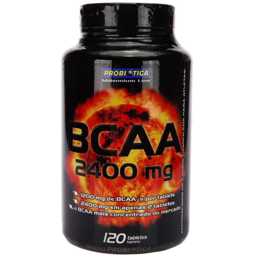 Bcaa 2400mg 120 tabletes probi tica for Suplemento wc