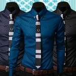 Camisa Masculina Social Slim Fit Luxo