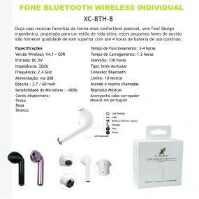 FONE DE OUVIDO BLUETOOTH TIPO IPHONE 7 XC-BTH-8 XCELL