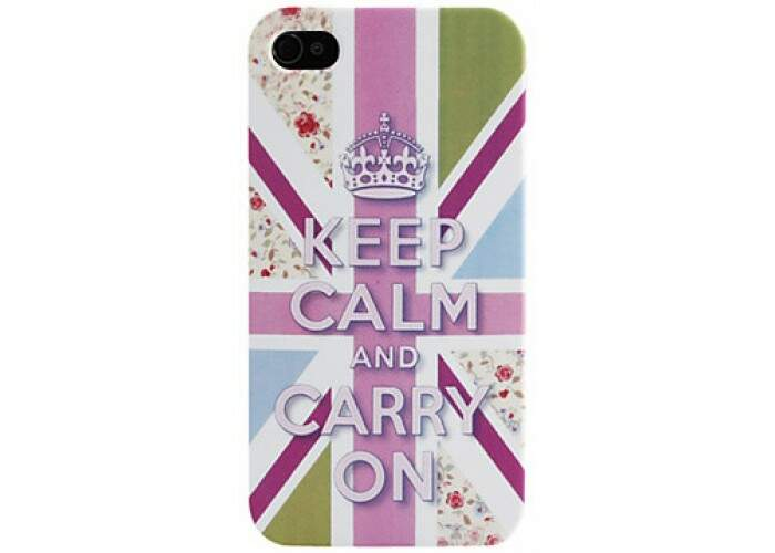 Capinha para iPhone 4/4S Keep Calm Flores