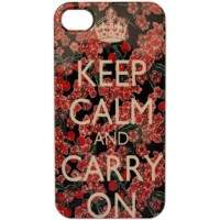 Capa para iPhone 4/4S Keep Calm Flor