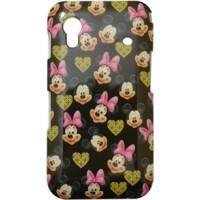 Capa para Samsung Galaxy Ace Minnie e Mickey Fundo Preto