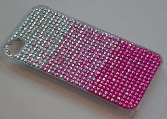 Capa Strass Degrade Rosa - Capinha para iPhone 4 e 4S
