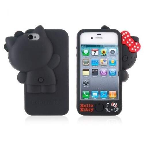 Capa Hello Kitty Lateral Silicone - Capinha para iPhone 4 e 4S