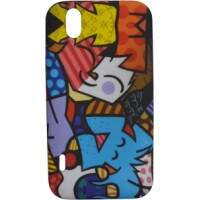 Capa Romero Britto Kid and Dog para LG Optimus Black