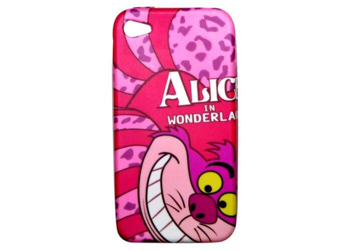 Capinha para iPhone 4/4S Disney Alice Silicone