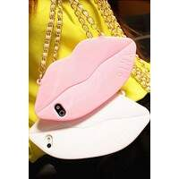 Capa para iPhone 5/5S Luxo Victoria Secrets Sexy Lips Bag
