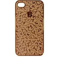 Capa para iPhone 4/4S Apple Arabesco Borda Dourada