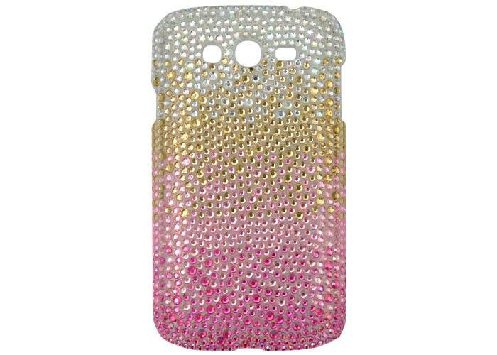 Capa para Samsung Galaxy Grand Duos Degradê Rosa Strass