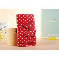 Capa Flip Estilo Disney Minnie Vermelha para iPhone 4/4S