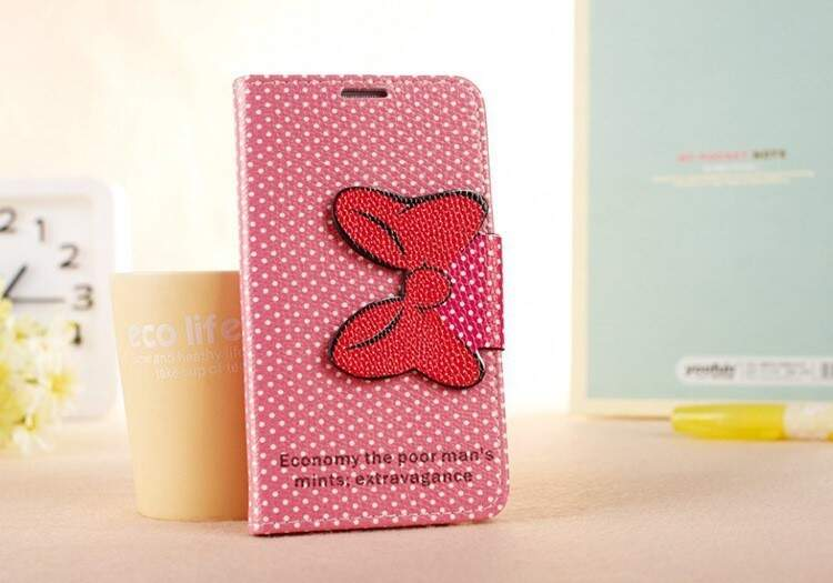 Capa Flip Estilo Disney Minnie Rosinha para iPhone 4/4S