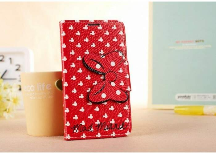 Capa Flip Estilo Disney Minnie Vermelha para iPhone 5/5S