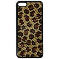 Capa para iPhone 5c Animal Print Strass